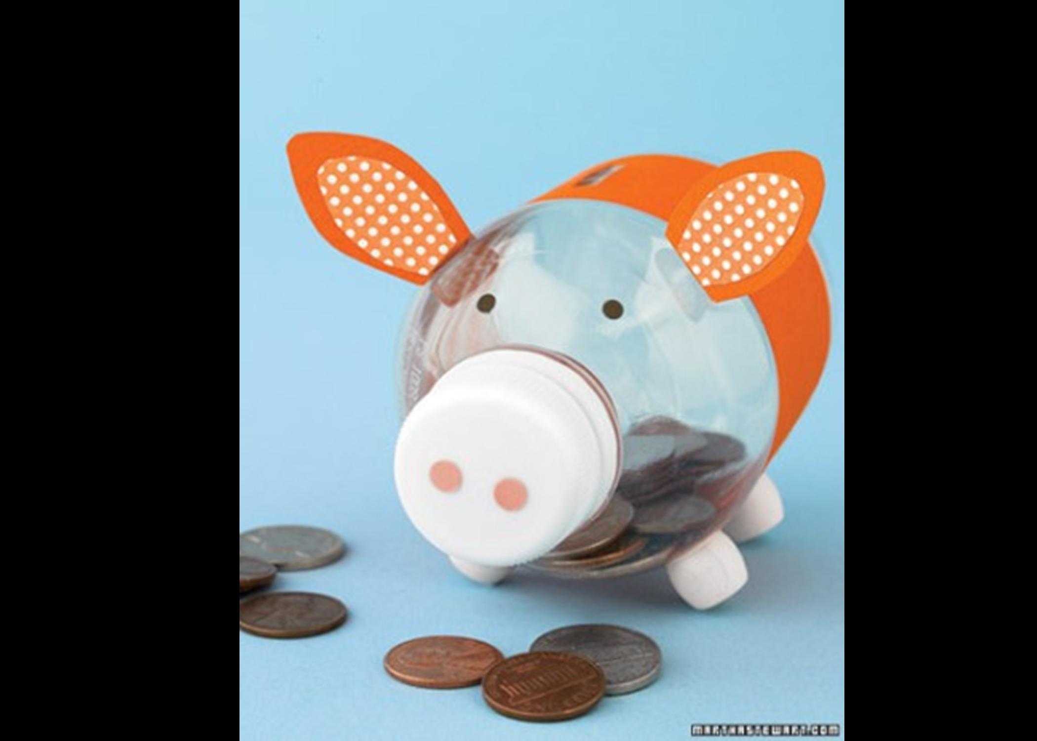Как сделать из банки поросенка
