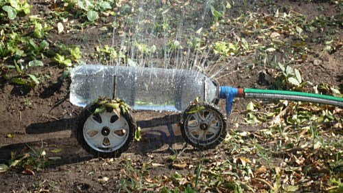 botol plastik penyiram tanaman
