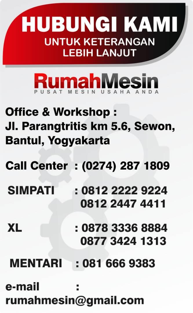 Info Pemesanan Rumah Mesin