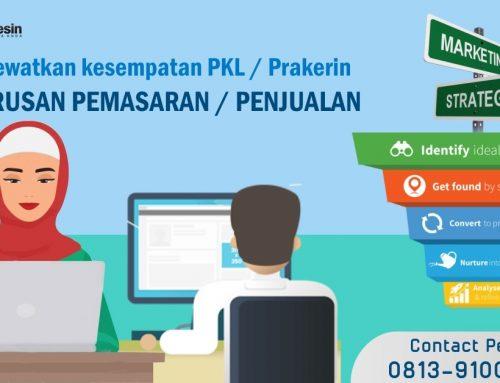 Ekslusif! Tempat PKL SMK Jurusan Pemasaran di Jogja, Terbatas!