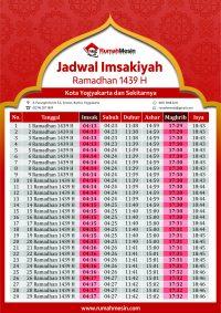 Jadwal Imsak Jogja Bulan Ramadhan 1439 H - Ramadhan 2018 Masehi