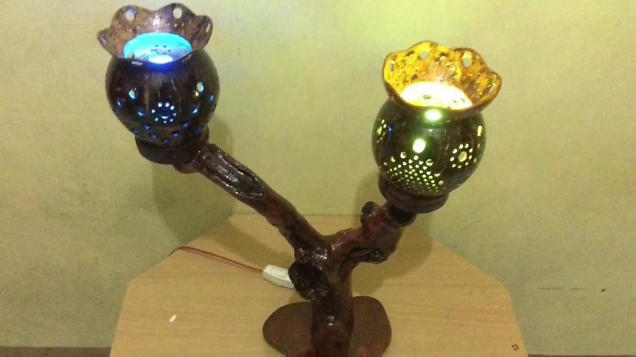 Cara membuat lampu hias dari batok kelapa