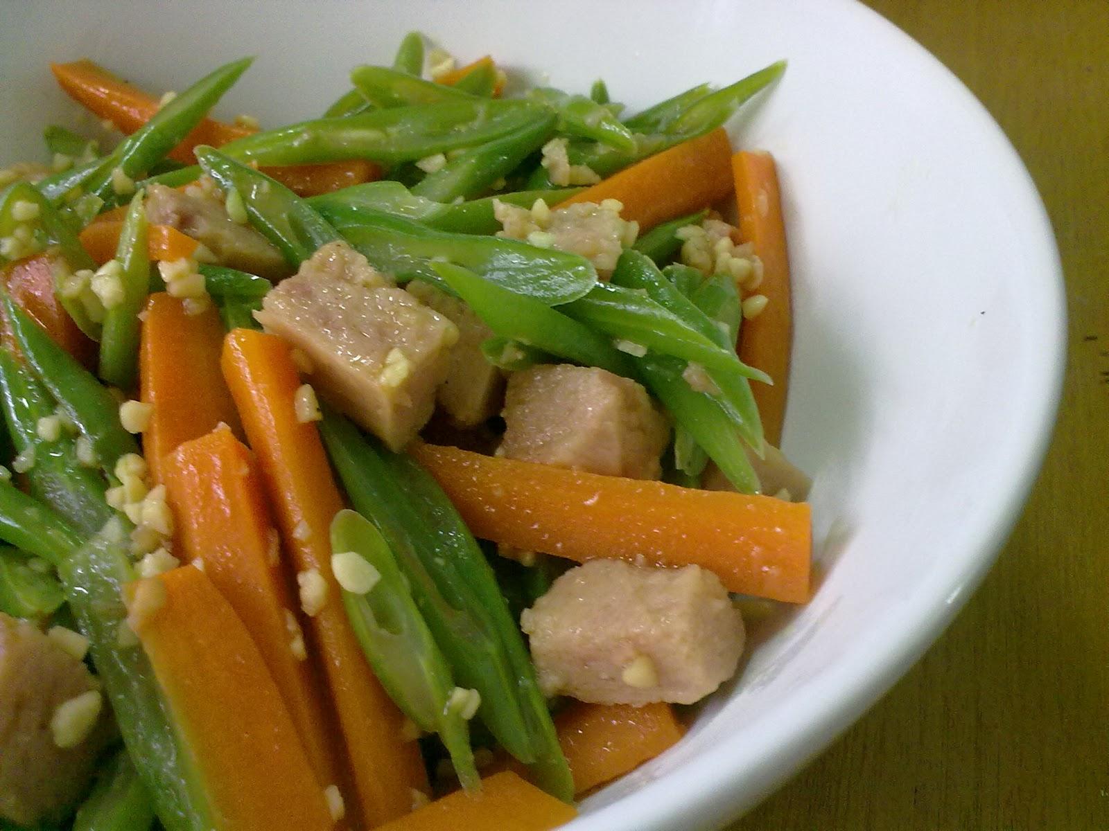tumis buncis wortel daging giling